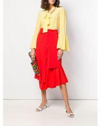 Шифоновая Блузка MICHAEL Michael Kors, цвет: Yellow