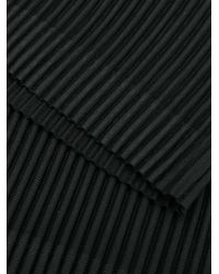 Homme Plissé Issey Miyake Black Pleated Scarf for men