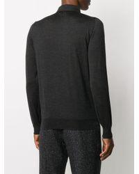 メンズ Lardini ニット ポロシャツ Gray