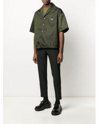 メンズ Prada オーバーサイズ シャツ Green