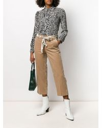 Pantalon crop en velours côtelé Cambio en coloris Brown