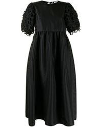CECILIE BAHNSEN パフスリーブ ドレス Black