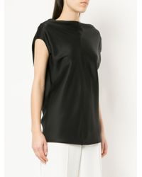 The Row - Black Timo Draped Tank Top - Lyst
