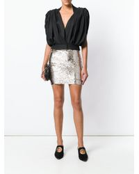 Misha Collection Metallic Short Fitted Skirt