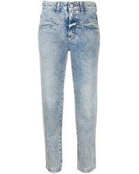 Jeans a vita media crop di Closed in Blue