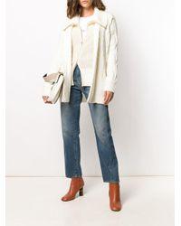 Cardigan con cintura di N.Peal Cashmere in White