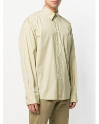 Marni Green Oversized Crinkle Shirt for men