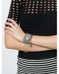 Balmain Metallic Embossed Coin Bracelet