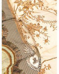 Sciarpa trapuntata Golden Bird di Pierre Louis Mascia in Metallic