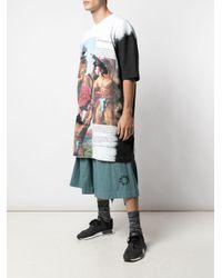 Camiseta oversize con estampado de bárbaros Bernhard Willhelm de color Black
