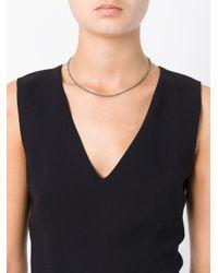 Uzerai Edits Blue String Diamond Necklace