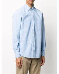 メンズ BOSS パッチポケット シャツ Blue