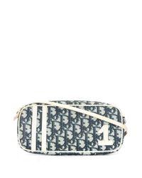 Bolso de hombro Trotter no.1 mini pre-owned Dior de color Blue