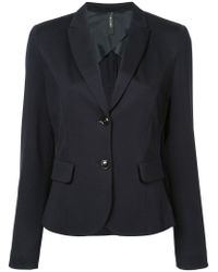 Marc Cain Blue Classic Fitted Blazer