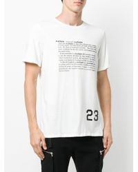 Cy Choi White Dictionary Print T-shirt for men