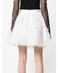 Amen - White Tiered Lace Ruffle Circle Skirt - Lyst