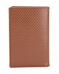 Comme des Garçons Brown Textured Billfold Wallet for men