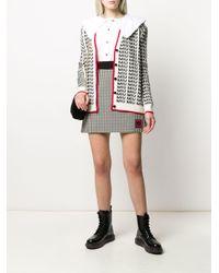 Miu Miu Vichy チェック Aラインスカート Multicolor