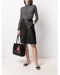 Сумка-тоут С Логотипом Love Moschino, цвет: Black