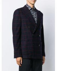 Veste à boutonnière croisée et carreaux Etro pour homme en coloris Blue