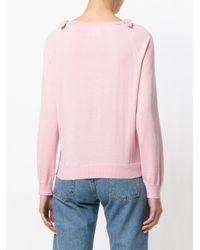 Boutique Moschino - Pink Maglione Con Fiocchi - Lyst