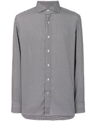 Tom Ford White Tailored Houndstooth Print Shirt for men