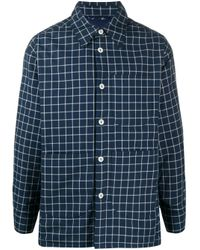 Vivienne Westwood Anglomania Blue Check Long-sleeve Shirt for men
