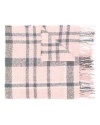 Barbour チェック スカーフ Pink