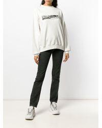 Aries Click To Buy スローガン スウェットシャツ White
