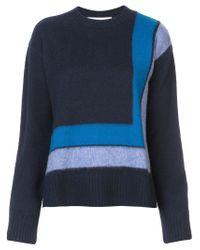 10 Crosby Derek Lam - Blue Crewneck Blanket Sweater - Lyst