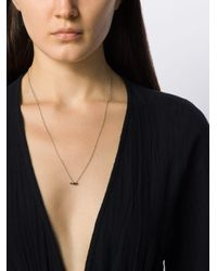 Delfina Delettrez Two In One Pierced ブラックダイヤモンド ネックレス 18kホワイトゴールド Metallic