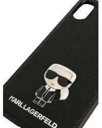 Karl Lagerfeld Ikonik Pin Iphone X/xs ケース Black