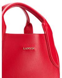 Lanvin   Red Mini Cabas Bag   Lyst