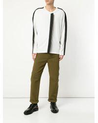 メンズ Craig Green コントラストパネル ロングtシャツ White