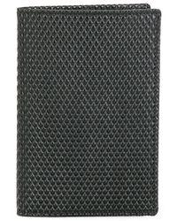 Comme des Garçons Black Textured Billfold Wallet