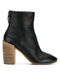 Marsèll Black Block Heel Ankle Boots