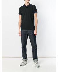Dondup - Black Collar Tip Polo Shirt for Men - Lyst