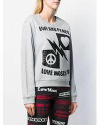 Love Moschino スパンコール スウェットシャツ Multicolor