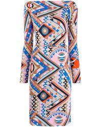 Emilio Pucci グラフィック ドレス Blue