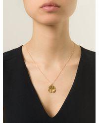 Aurelie Bidermann Metallic Mini 'clover' Necklace
