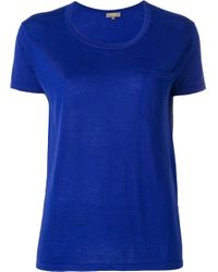 N.Peal Cashmere Blue Superfine Knit Top