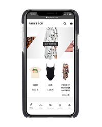 Funda para iPhone X con apliques Prada de color Black