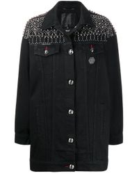 Giacca denim di Philipp Plein in Black