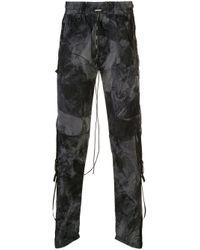 メンズ Represent プリント トラックパンツ Black