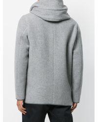 Emporio Armani Gray Caban Coat for men