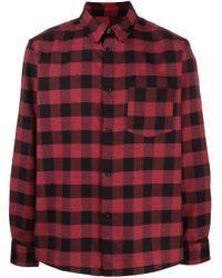 Camisa a cuadros gingham A.P.C. de hombre de color Red