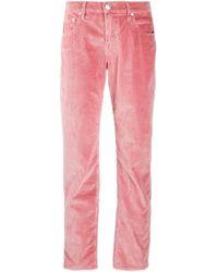 Pantalon droit texturé Jacob Cohen en coloris Pink