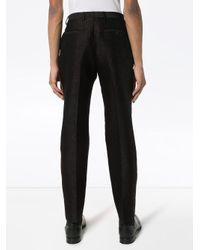 Зауженные Жаккардовые Брюки С Лампасами Saint Laurent для него, цвет: Black