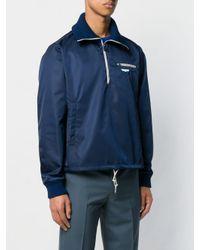 メンズ Prada ハーフジップ スウェットシャツ Blue