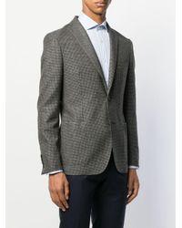 メンズ Tonello ハウンドトゥース ジャケット Gray